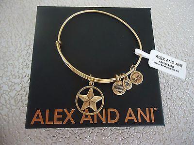 Authentic Alex and Ani Triskelion Rafaelian Gold Expandable Charm Bangle