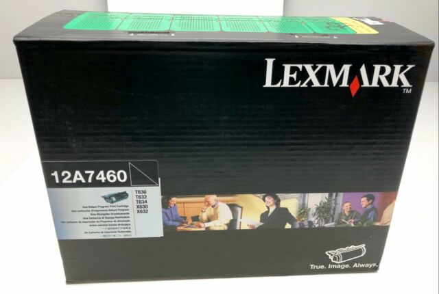 x1 OEM Lexmark 12A7460 Return Program Print Cartridge Black T630/T632/T634/X630