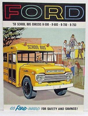 1985 Ford B-Series School Bus Brochure  B-600 700 7000