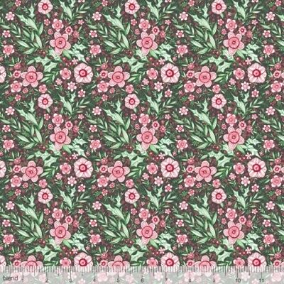 Blend Merry /& Bright by Cori Dantini 112 120 04 2 Grey Winter Blooms BTY COTTON
