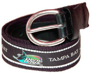 The-Mark-Adult-Canvas-Material-MLB-Tampa-Bay-Devil-Rays-Belt-w-Buckle-Closure