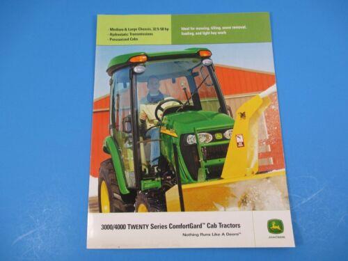 Original John Deere Sales Brochure 3000//4000 Twenty Series Cab Tractors  M1315