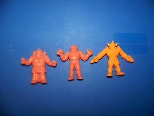 M-U-S-C-L-E-Men-vintage-Mattel-Orange-figure-lot-of-3