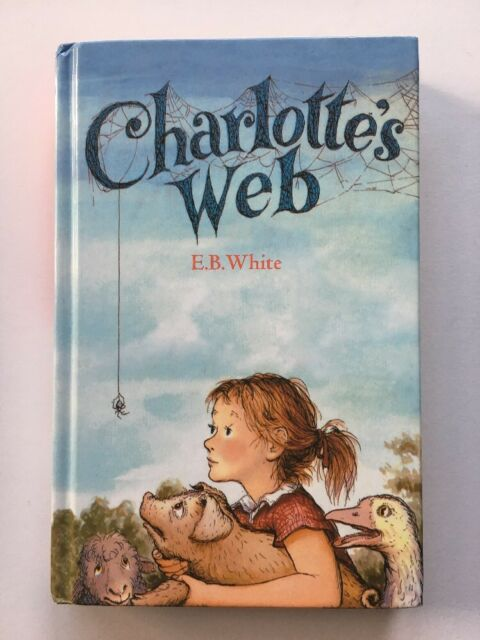 # CHARLOTTE'S WEBB Hardcover Book with illustrations 2003 by E. B. White - GOOD
