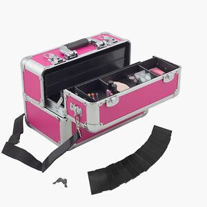 anndora-Beautycase-Kosmetikkoffer-Pink-Aluminium-Make-up-Case-abschliessbar