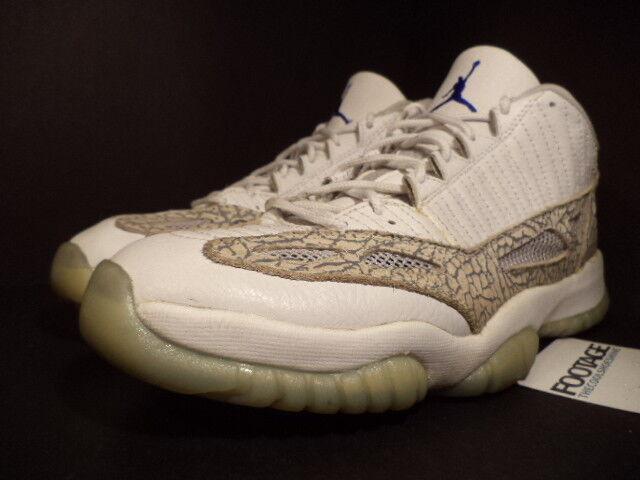 factory price 7ab2e f97b4 ... 2003 Nike Air Jordan XI 11 Retro Low WHITE WHITE WHITE COBALT ZEN GREY  CEMENT BLUE ...