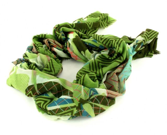 29be13291a1 Oilily Scarf Botanic Pop Nori Green 100 X 200 Cm 100 Polyester for ...