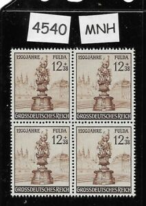 4540-MNH-stamp-BLOCK-1944-1200th-anniversary-city-of-Fulda-Germany