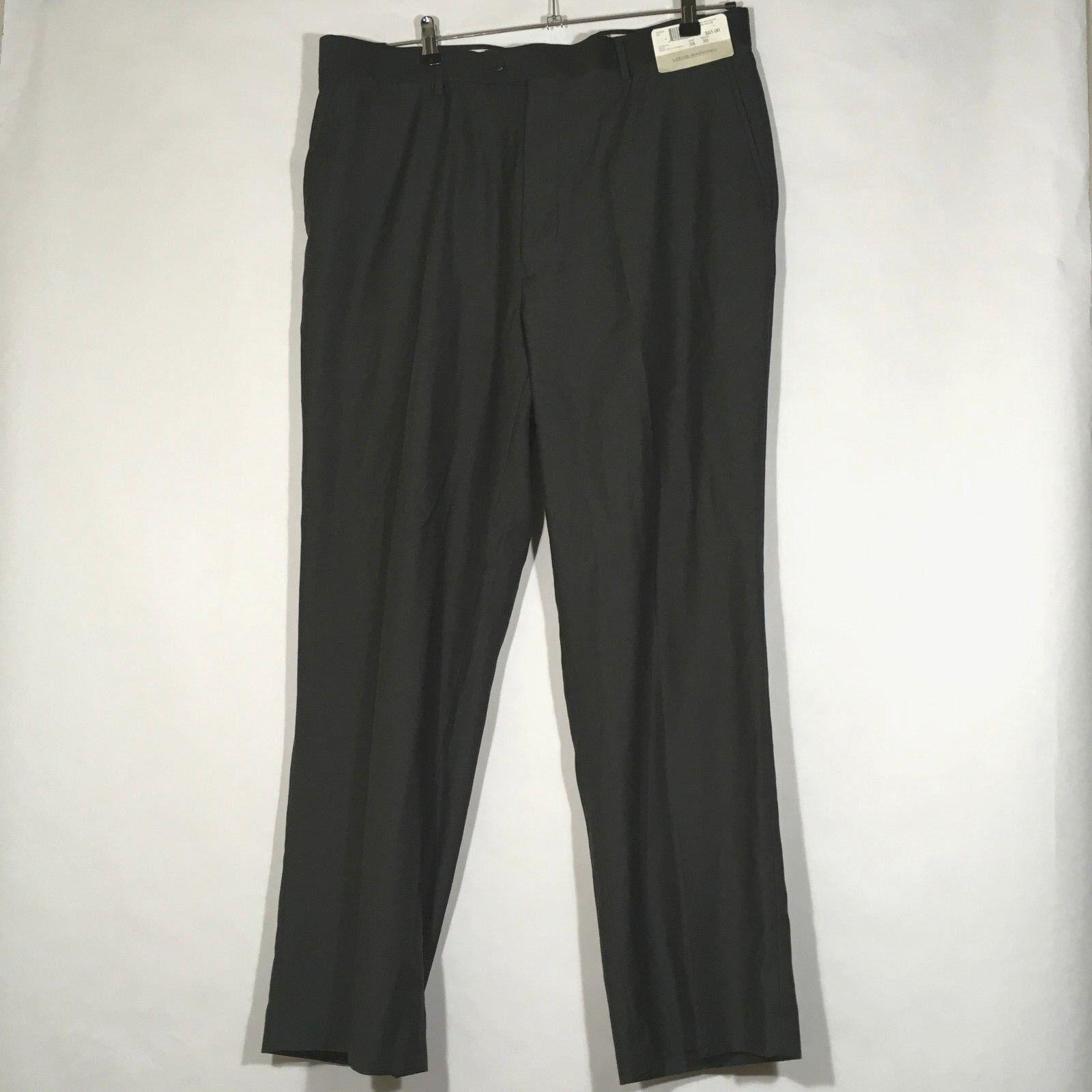 NEW Louis Raphael Tailored Charcoal Monte  Dress Pants Men Straight Leg 38x31