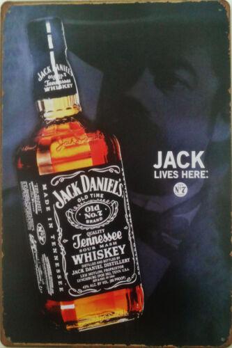 Man Cave Jack Daniels Métal Plaque Murale pub 20x30 cm glacoide pour bar hangar