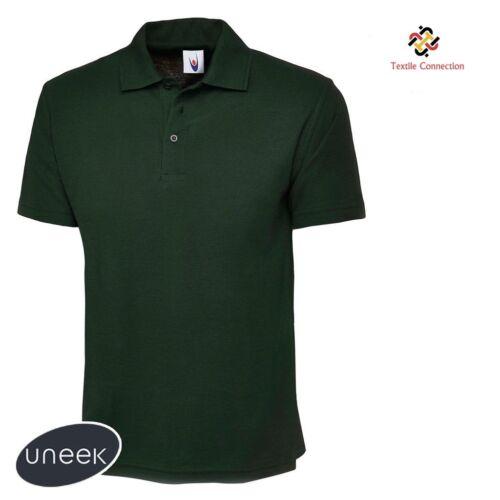 101 100/% PLAIN NO LOGOS ANYWHERE Mens Classic Polo T Shirts Size XS to 6XL