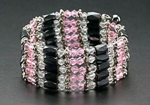 Magnetic-Bracelet-Hematite-Bead-Necklace-Wrap-Pink-Crystal-Mothers-Day-Gifts