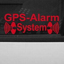 2 Stk. GPS Alarm System gespiegelt rot Auto Aufkleber Tattoo Folie Autoaufkleber