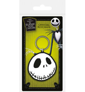 Official-Nightmare-Before-Christmas-Rubber-Keychain-Keyring-Gift-JACK-FACE