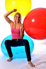 UNIQUE 290er (93cm Ø) Riesen- Luftballon +ballrund+ Riesen-Kugel- Ballon CRYSTAL