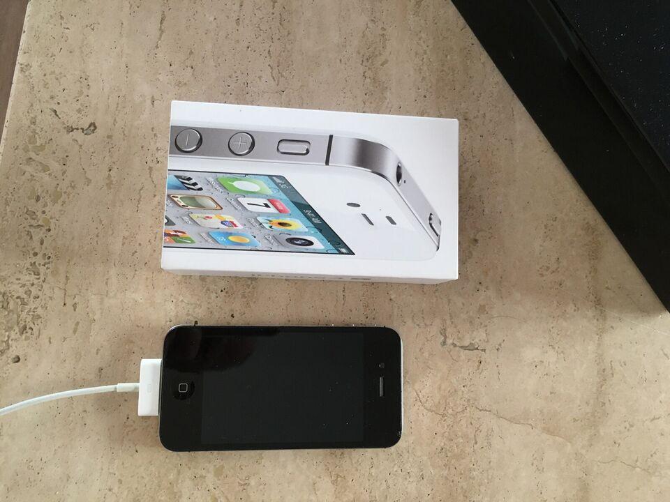 iPhone 4S, 16 GB, sort