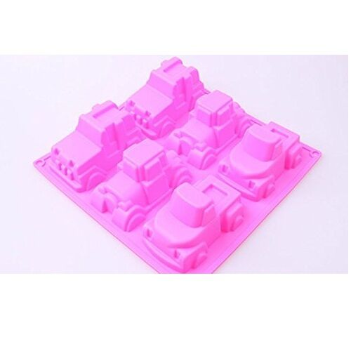 6 Pickup Truck Car Silicone Soap Mold Boy Jelly Chocolate Cake Baking Pans Molds
