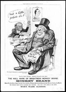 1899-Antique-Print-ADVERTISING-Brookes-Monkey-Brand-Soap-Polish-Sir-94