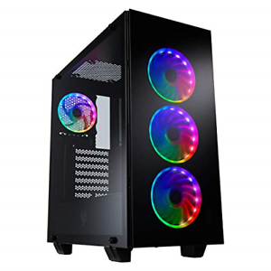 FSP ATX Mid Tower PC Computer Gaming Case with 3...