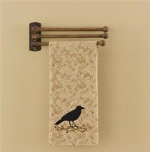 Country Three Prong Wooden Towel Rack Primitive New Ebay