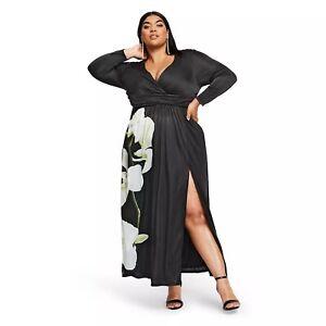 Details about ALTUZARRA for Target Women\'s Floral Print V-Neck Maxi Dress -  Plus Size 2X