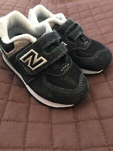 size 40 6cc04 53f9f Details about New Balance 574 Core Black Sneakers Shoes SIZE 5 TODDLER Boy  Girl IV574GK