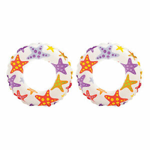Intex-Inflatable-20-Inch-Lively-Ocean-Friends-Print-Kids-Tube-Swim-Ring-2-Pack