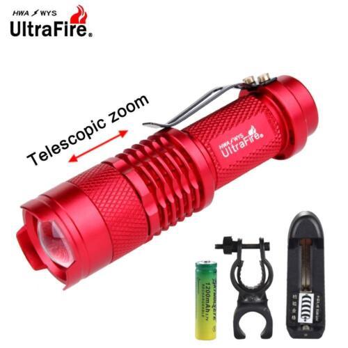 AC Charger GA Ultrafire SK68 LED Flashlight 6000 Lumens Adjustable Focus Lamp
