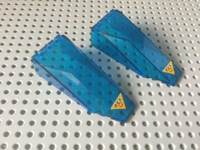 Lego Part 2507 30058 Windscreen 10 x 4 x 2 1//3 Canopy Trans Blue
