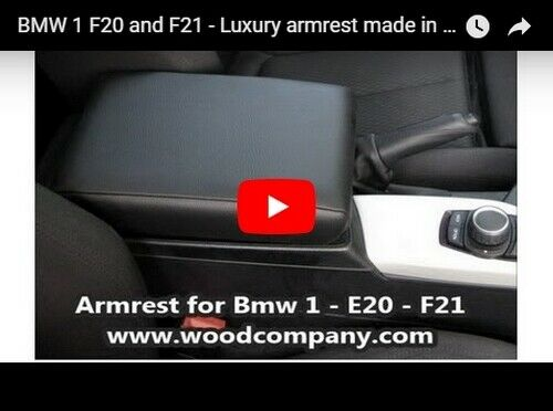 F21 Eco-Leder schwarz armsteun Mittelarmlehne für BMW 1 F20
