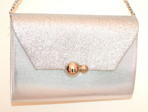 a Shoulder borsa in Woman Plated G60 Shimmer Silver Bag Pochette catena argento Elegante WO8qHnv