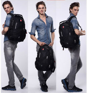 48fcee4aaa50 Oxford Swiss Backpack USB charging 17 Inch Laptop Men Waterproof ...