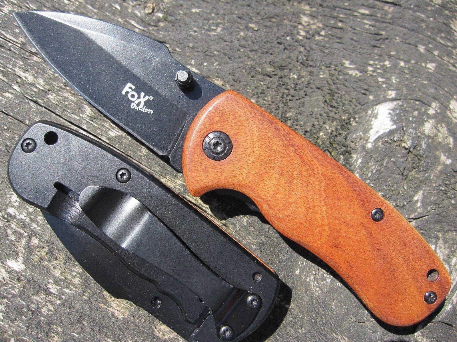 Fox Outdoor couteau Couteau canif couteau Outdoor pliant escamotable Couteau inoxydable avec clip 906b1c