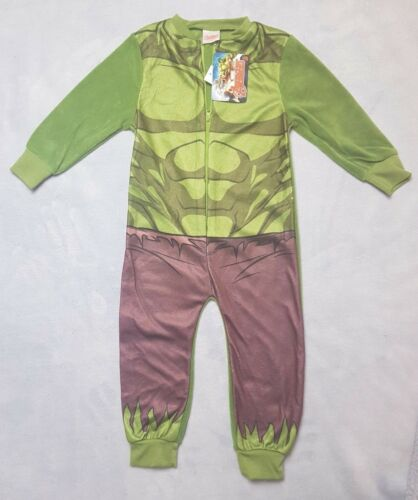 Official Marvel Avengers Boys All In One Fleece Pyjamas Ironman Hulk Gift