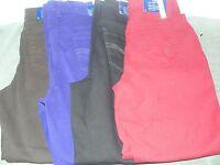 Bandolino Lydia Slim Womens Jeans Purple, Black, Brown, Red 8 10 12