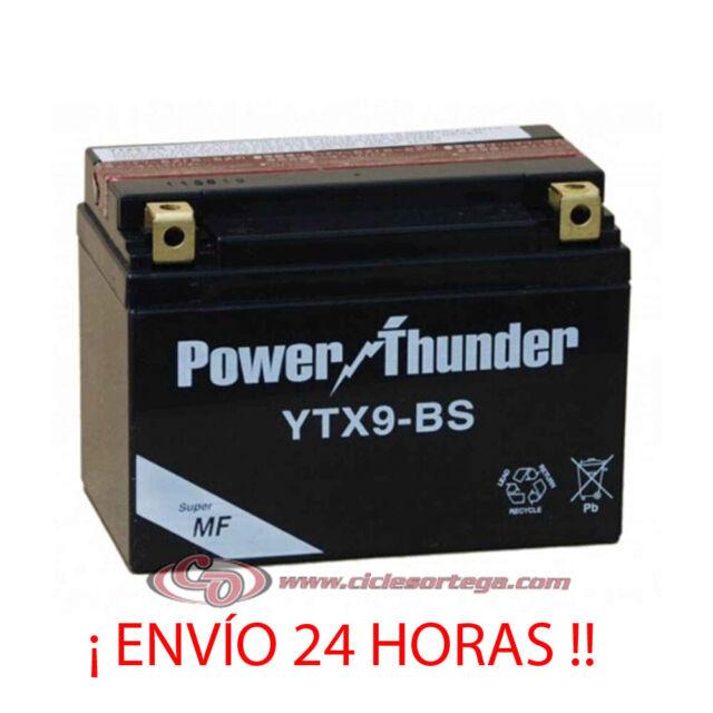 BATERIA POWER THUNDER YTX9-BS | 12v | 8 AH | ytx9bs | dtx9bs  ¡ ENVIO 24 HORAS !