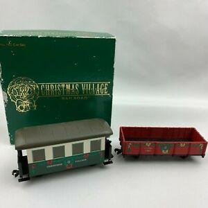 Rare-Dept-56-Christmas-Village-Railroad-Car-Set-No-942