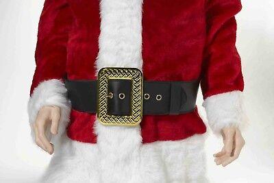 Babbo Natale / Pirata Cintura Dxl Blk Rilegato Vinile W/grande Decorativo Oro