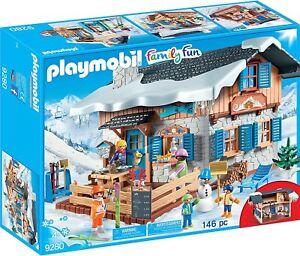 Playmobil-Famille-Fun-9280-Chalet-De-Ski-Neuf-Et-Scelle