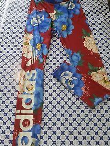 Pantalone Leggings Adidas Donna -- Bordeaux/Azzur<wbr/>ro Floreale -- BJ8418  286