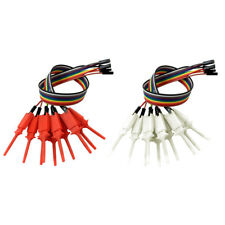 20pcs Logic Analyzer Cable Probe Test Hook Clip Line Red And White Color