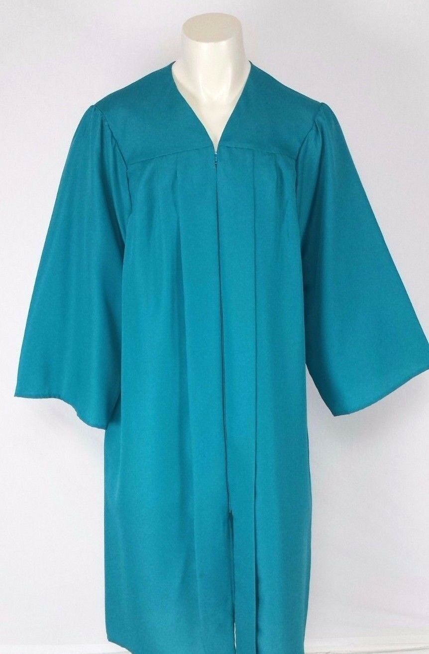 Aqua Turquoise Graduation Gown Choir Robe Clergy Costume Matte and ...