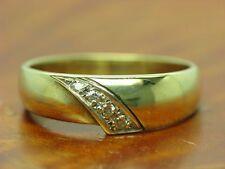 8kt 333 giallo ORO ANELLO con guarnizione in Brillante Diamante// 2,5g/RG 54