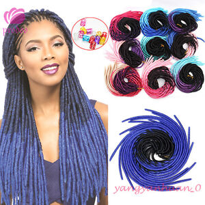 20'' Ombre Faux Locs Dreadlocks Crochet Braid Soft Synthetic Hair Extensions