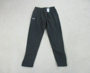 NEW-Under-Armour-Pants-Adult-Large-Black-White-Track-Pants-Casual-Athletic-Mens