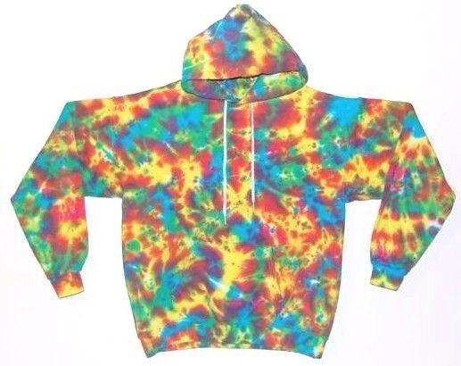 TIE DYE Hoodie Neon Blotter Sweatshirt Sm M L XL 2X 3X grateful dead hippie art
