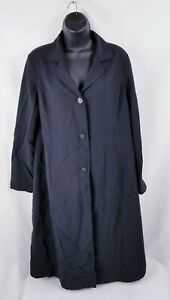 Gap-Women-039-s-Maternity-Coat-Jacket-Button-Front-Black-Size-Small