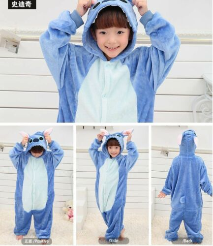 Stitch sale kids//Pajamas Kigurumi Unisex Cosplay Animal Costume sleepwear!