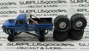 Greenlight-1-64-LOOSE-Blue-1974-FORD-F-250-Pickup-Truck-BIGFOOT-Monster-Truck