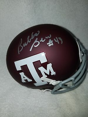 Sports Mem, Cards & Fan Shop Autographs-original Flight Tracker Bubba Bean Texas A&m Aggies Signed Mini W/coa Can Be Repeatedly Remolded.